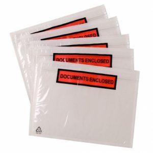 paklijst envelop bedrukt formaat DL 225x122 mm