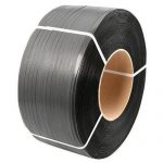 Omsnoeringsband zwart 2200 m x 12 mm x 0.73 mm