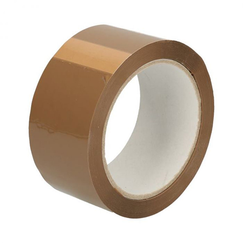 1 rol Tape PP acryl bruin 66 M x 50 mm 32µ