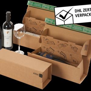 Verzenddoos voor wijnfles