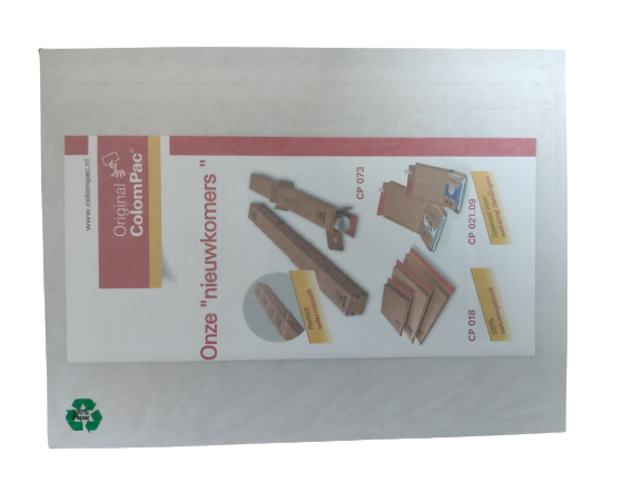 Papieren paklijstenvelop DL onbedrukt eco friendly