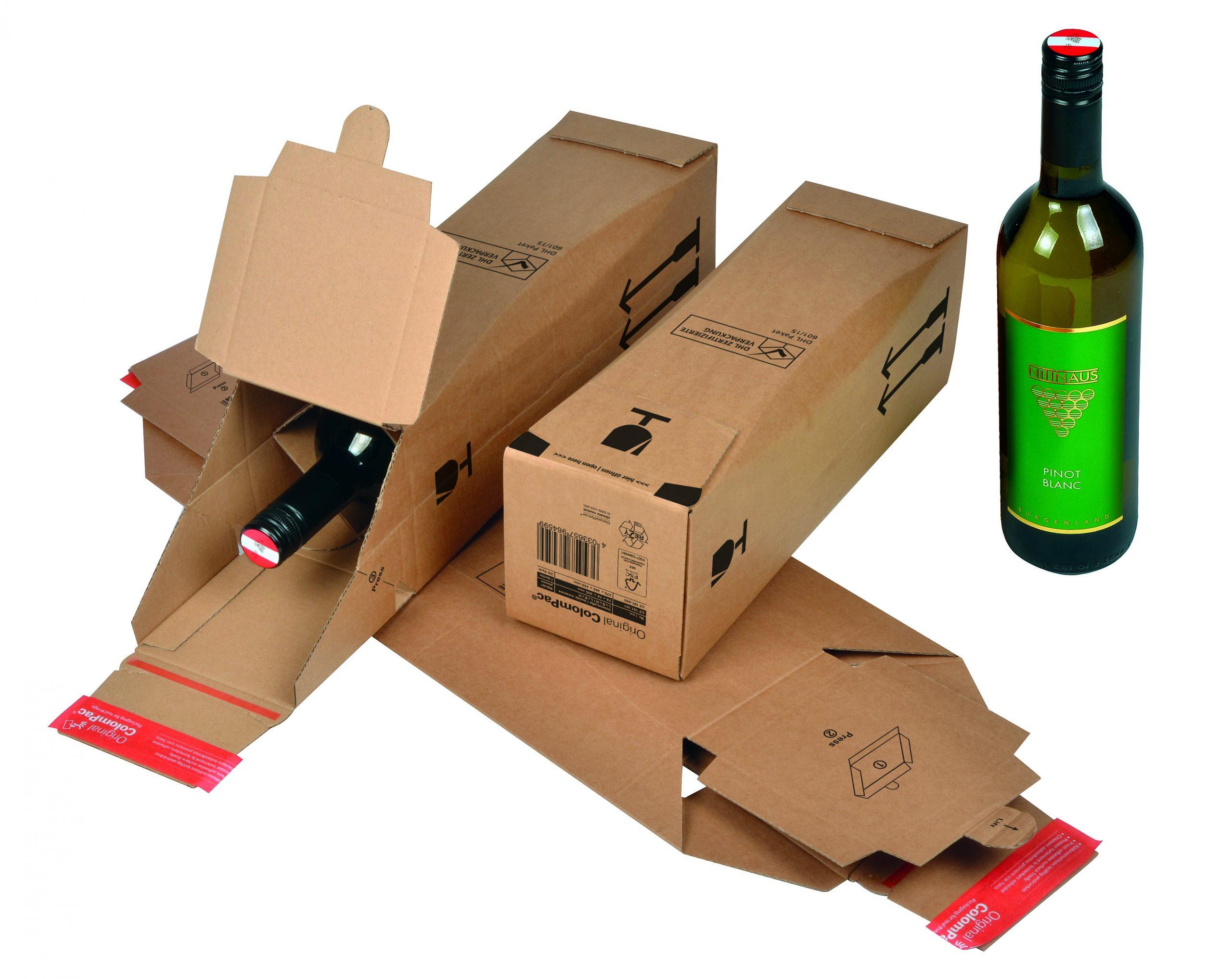 Wijnfles Verzenddoos kado doos CP 181.101
