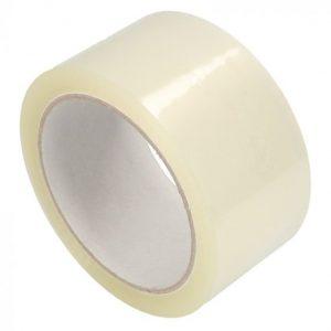 1 rol Tape acryl transparant 66 mtr x 48 mm 33mu